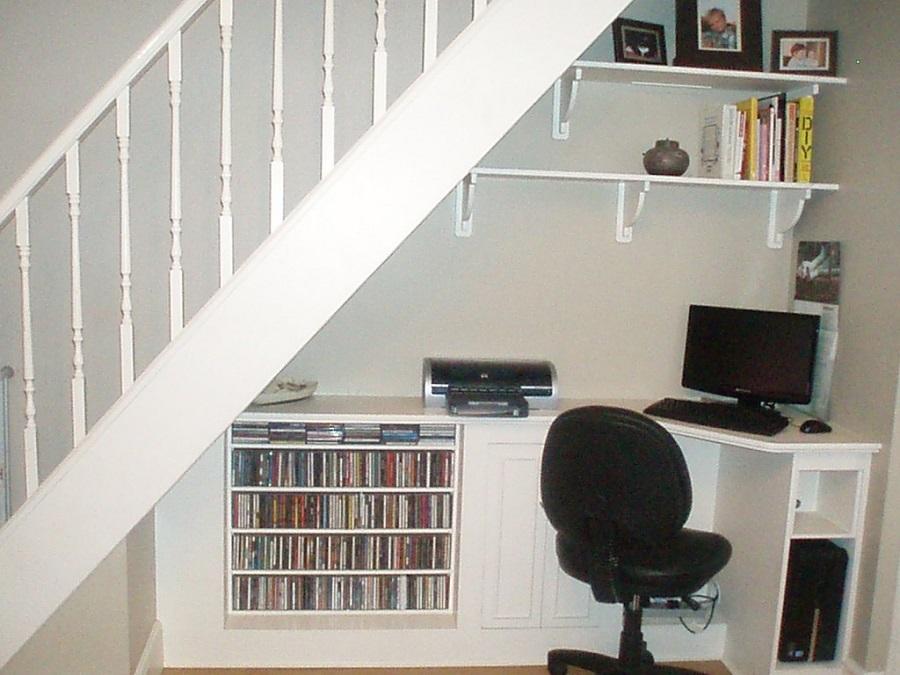 merdiven altında home ofis
